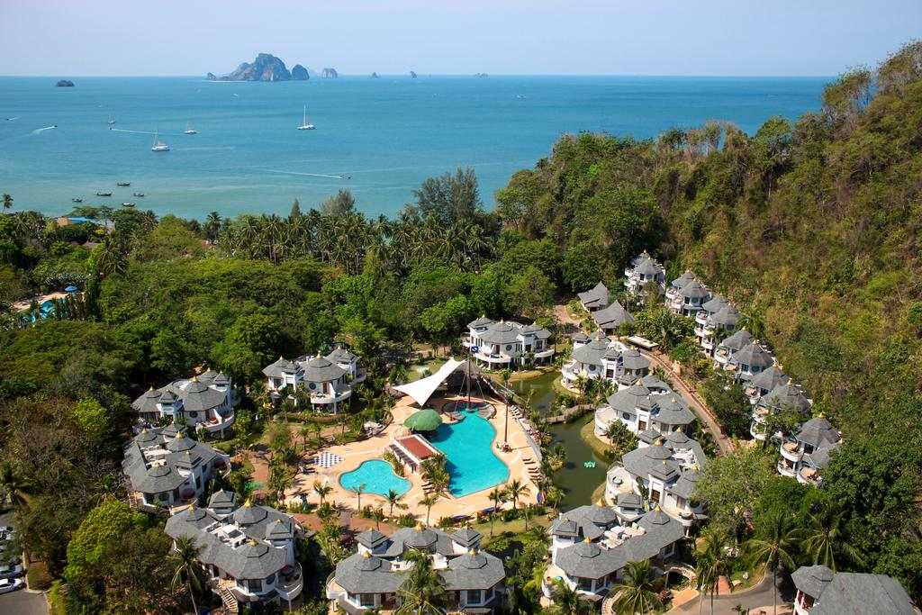 The Krabi Resort seen from above with a drone (one of the best hotels in Ao Nang)