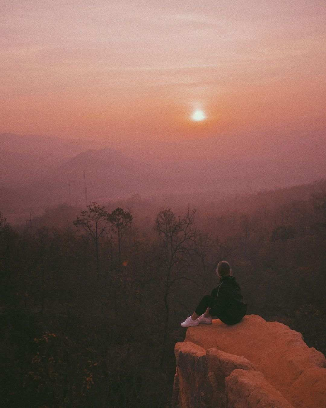 Seeing the sun set from the Pai Canyon
