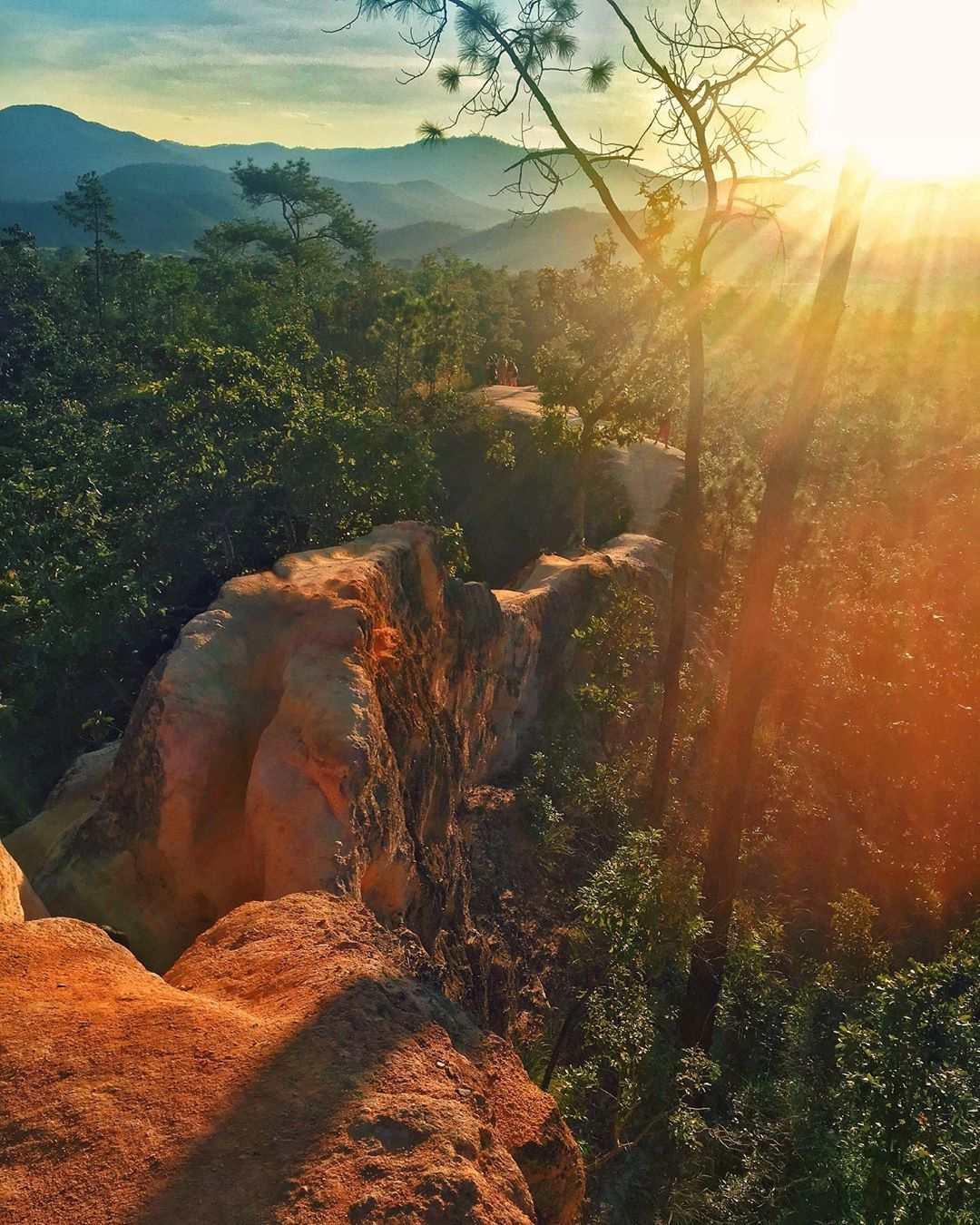 Zonsondergang Pai Canyon