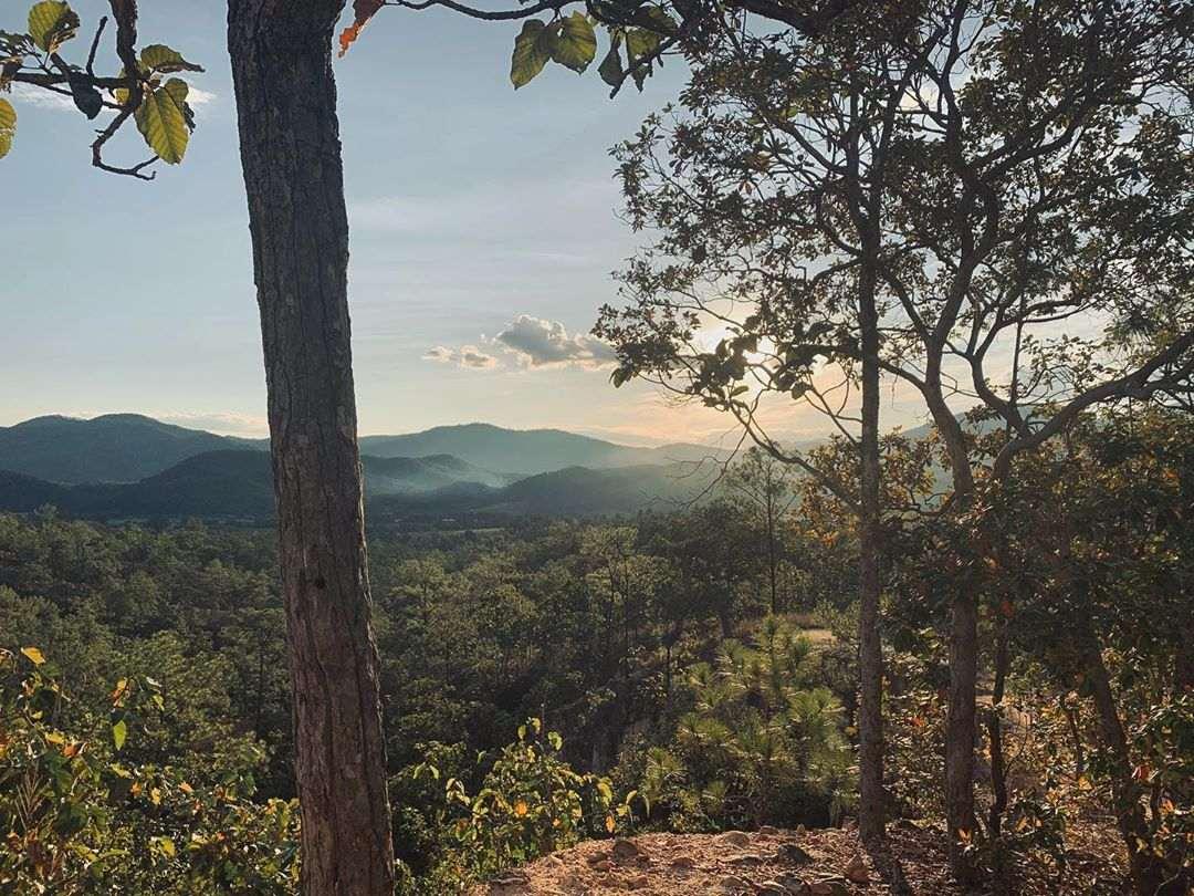 Zonsondergang op de Pai Canyon