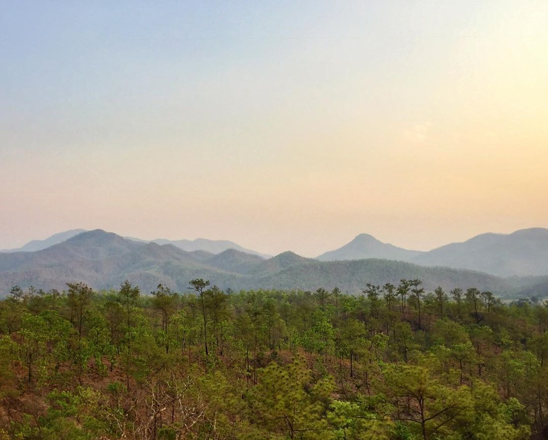 The mountains and hills of Pai and surroundings