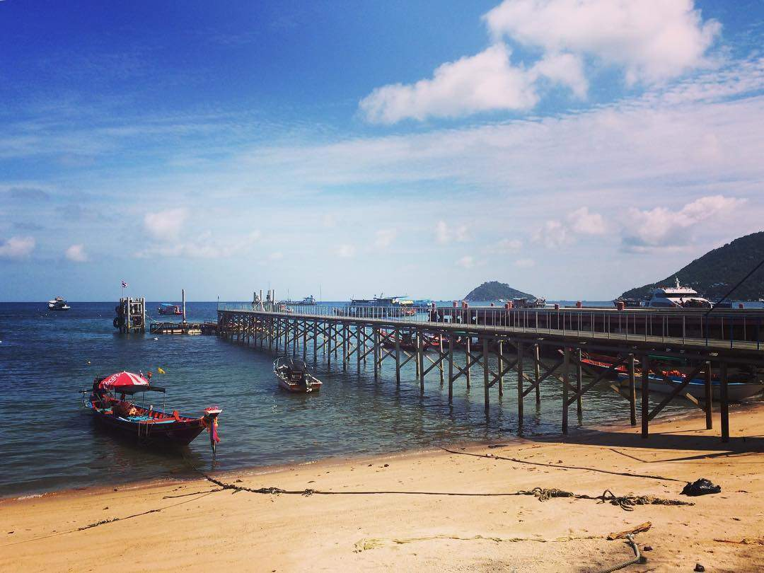 The Mae Haad pier of Koh Tao