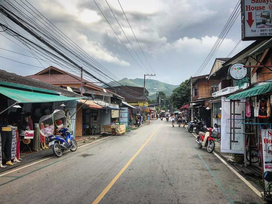 Pai Walking Street overdag
