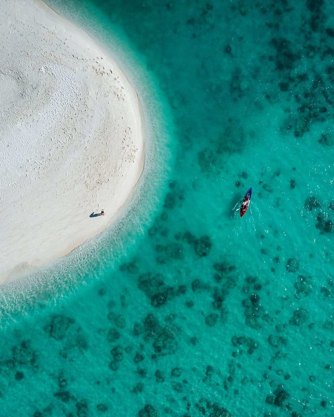 Koh Lipe zandbank gezien vanaf de drone