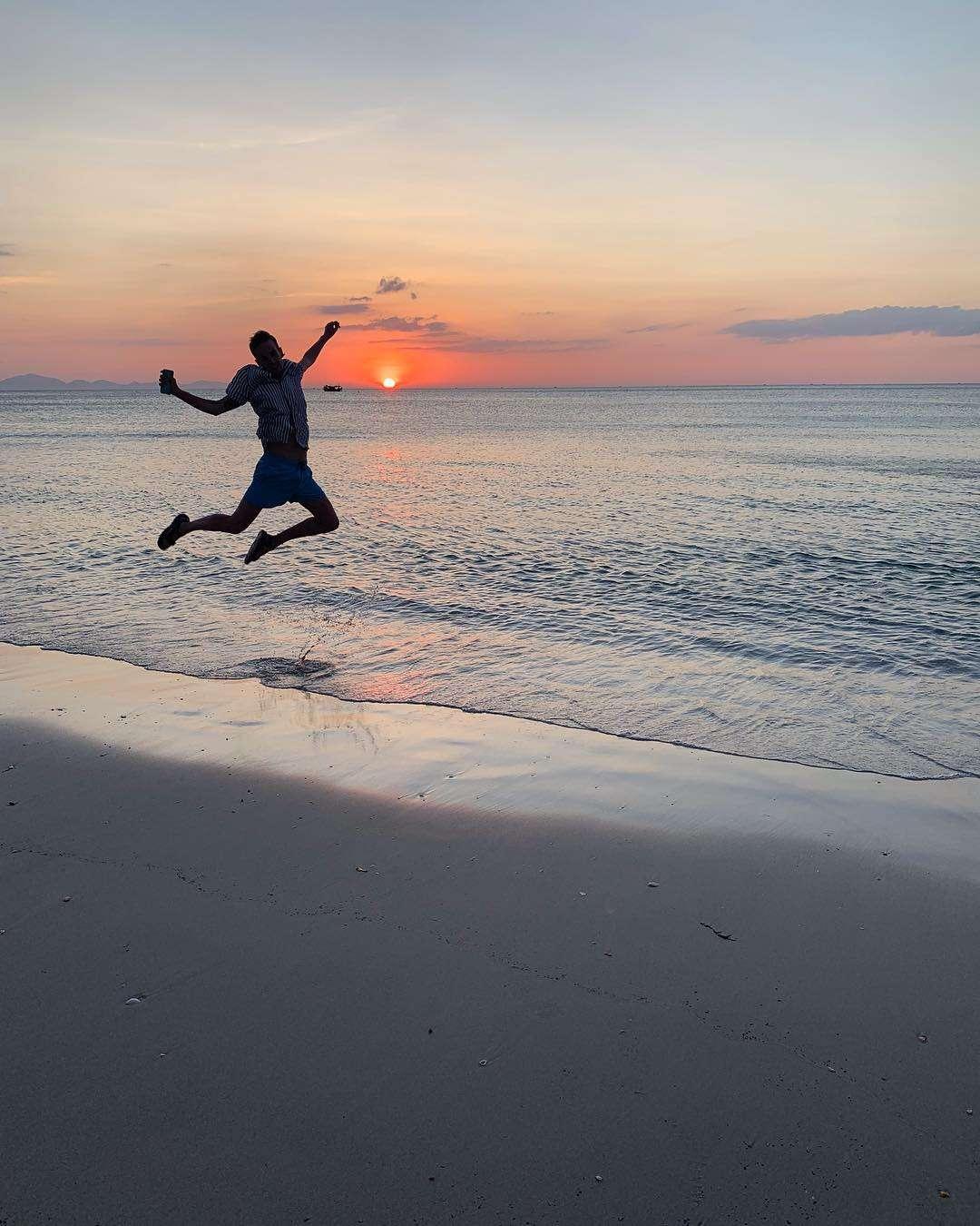 jump in het Tarutao National Park
