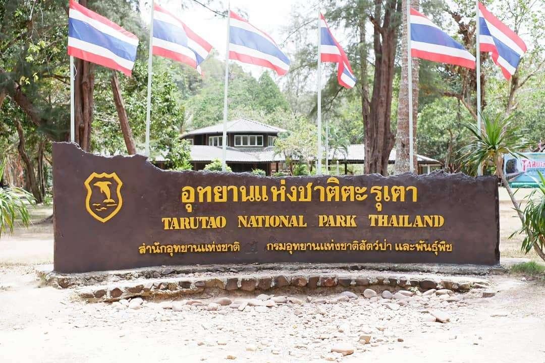 het bord van koh tarutao het Tarutao National Park