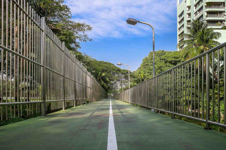 Het groen gekleurde fiets- / wandelpad The Green Mile