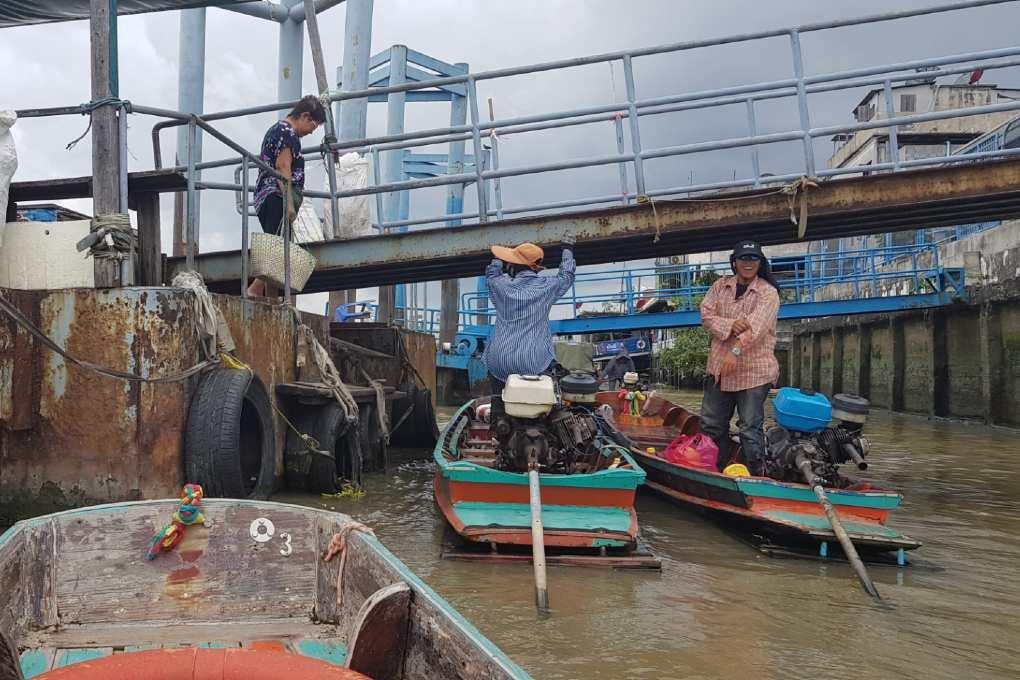 boats at the Klong Toei Pier