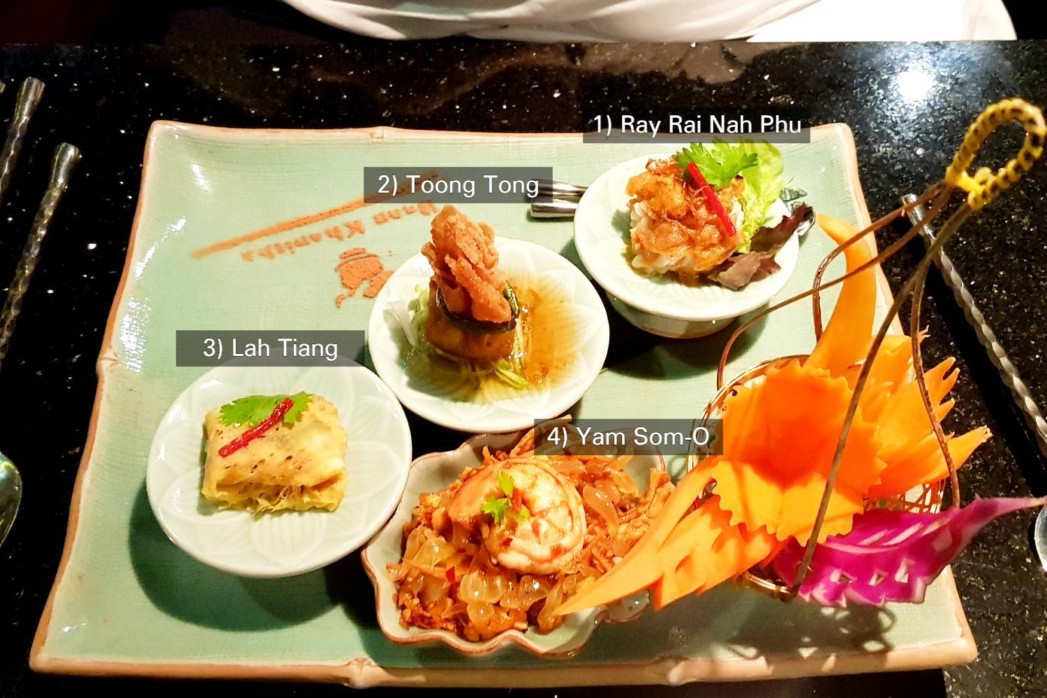 The four starters during the Baan Khanitha Cruise
