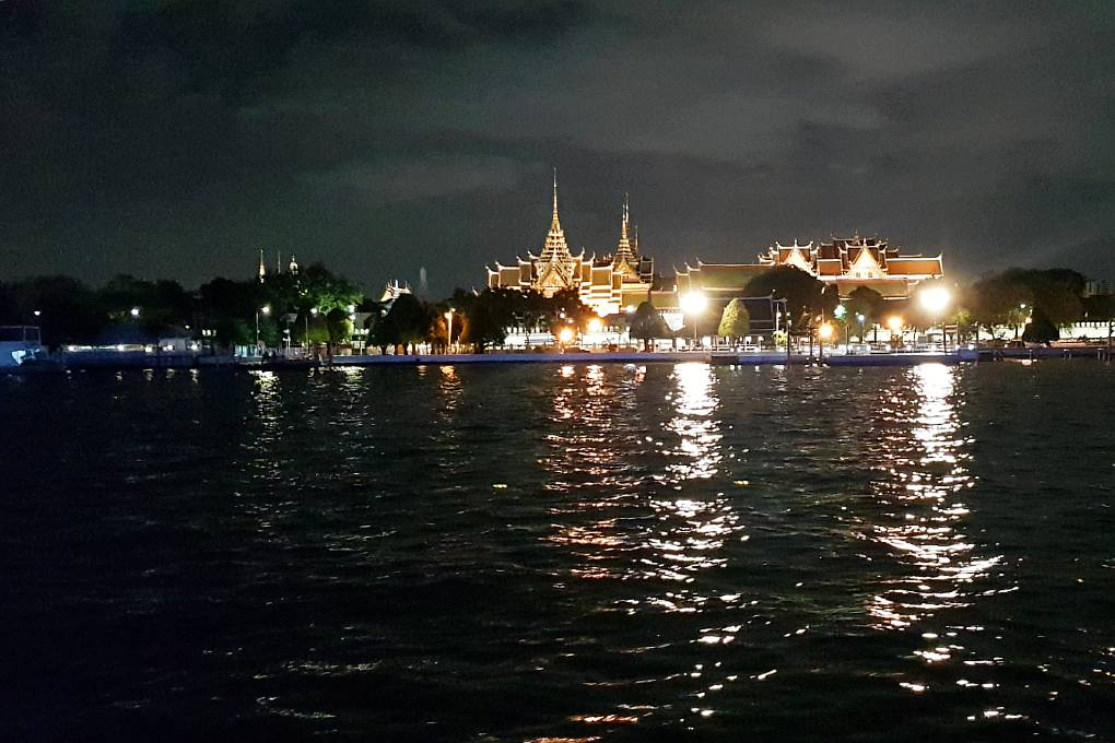 The Grand Palace seen from the Baan Khanitha Cruise