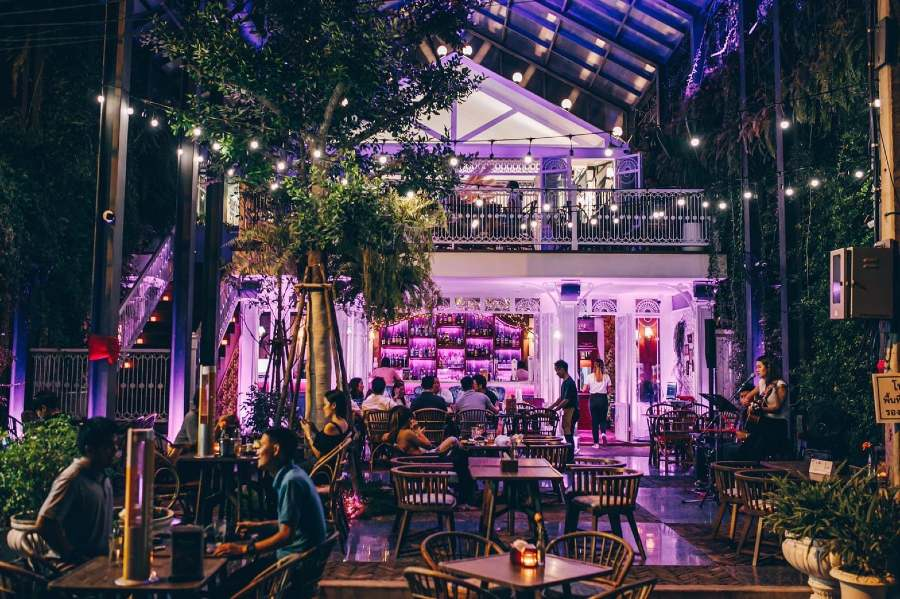 Botanic Backyard Bar & Restaurant on Soi Rambuttri in Bangkok