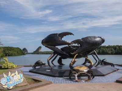 The Mud Crab Monument In Krabi Town