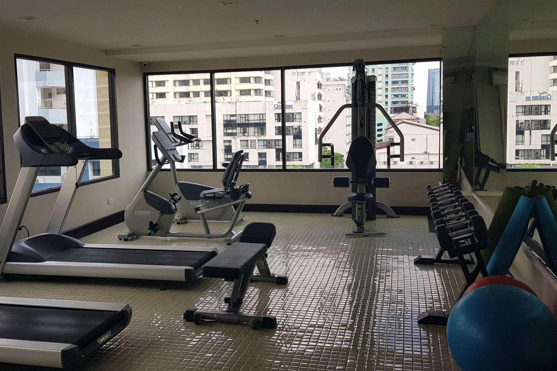De fitnesszaal van Hope Land Hotel Sukhumvit 8 in Bangkok, Thailand