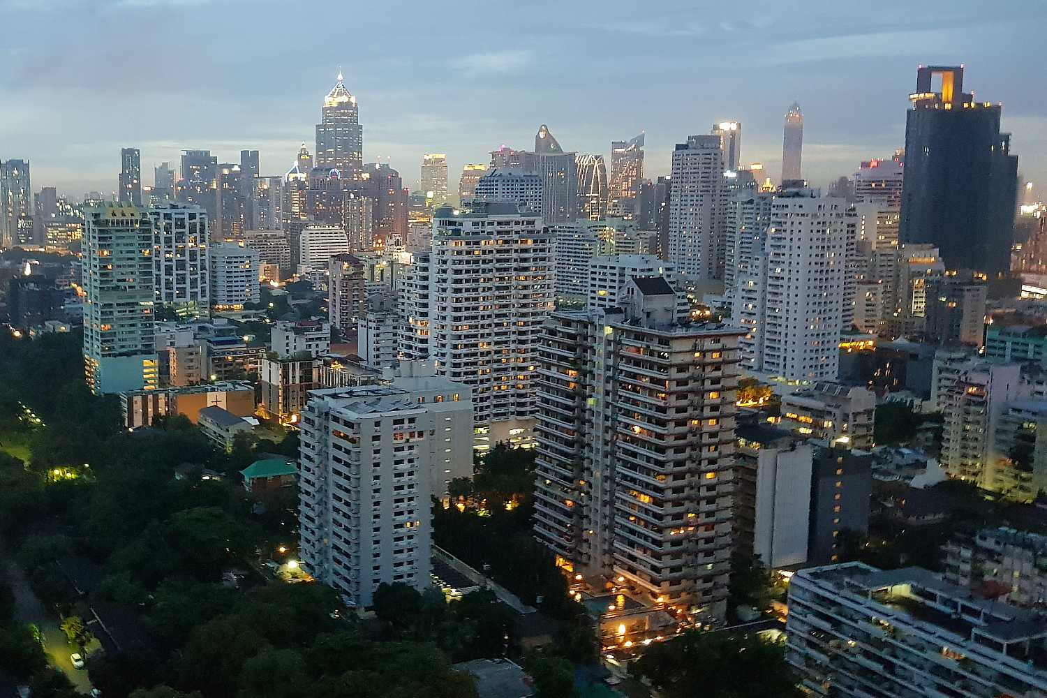 View from Long Table over the skyline of Bangkok