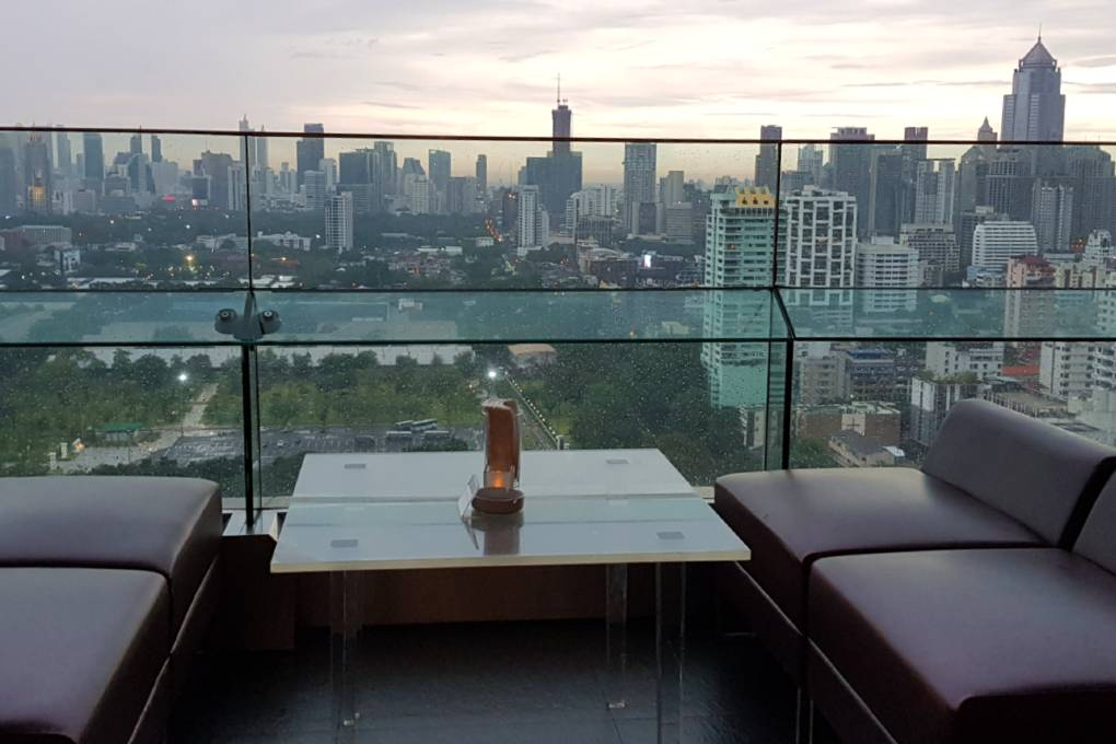 Outside on the terrace of Long Table in Bangkok