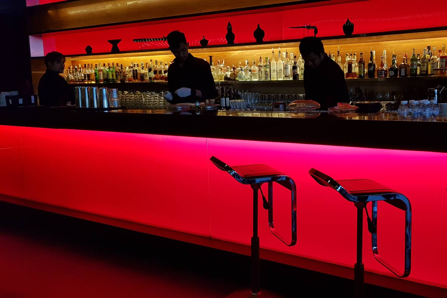 The bar with bartenders at Long Table in Bangkok