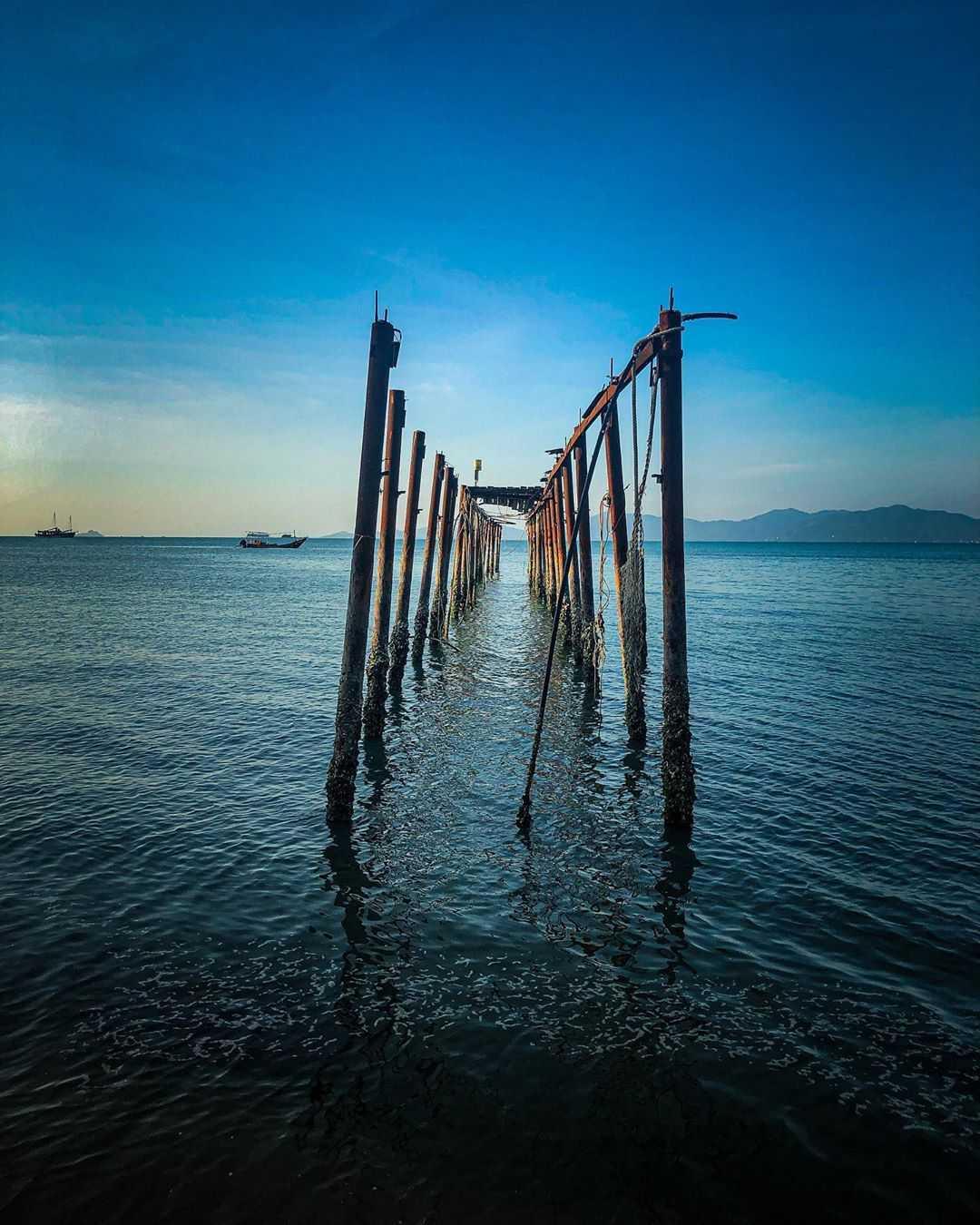 Oude pier bij Bophut op Koh Samui