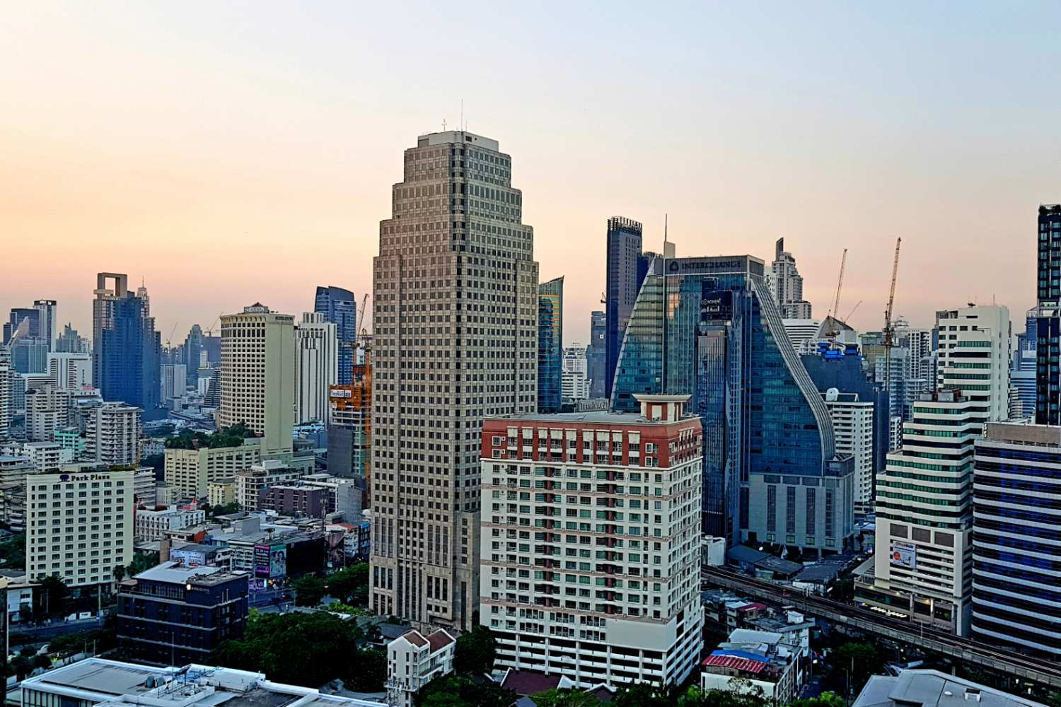 View from 1826 Mixologist & Roof Top Bar in Bangkok