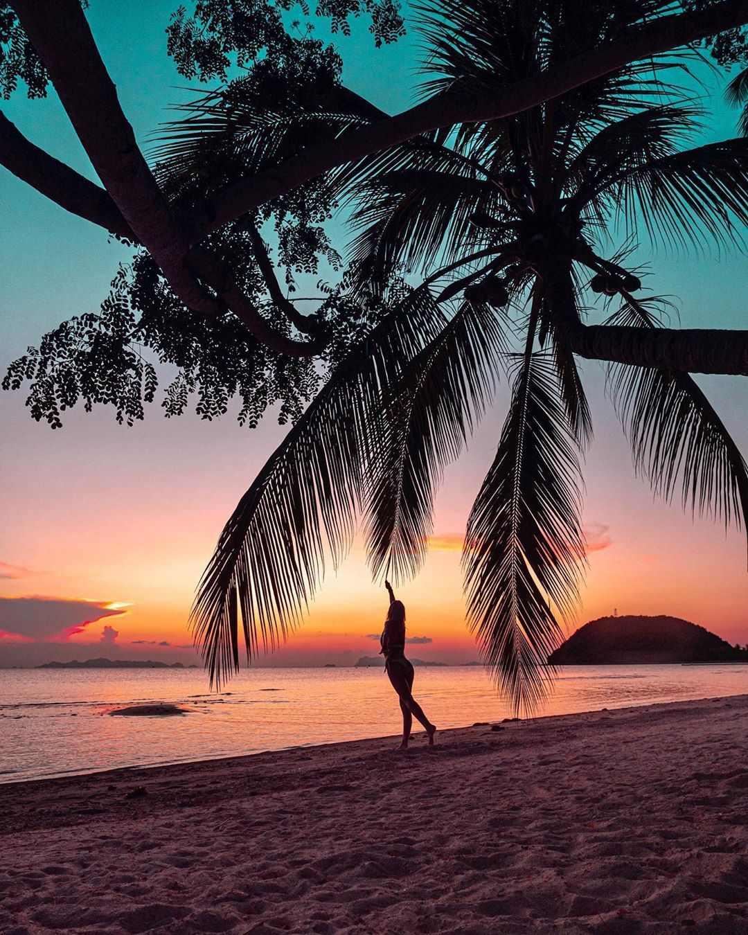 Mooie zonsondergang op koh samui