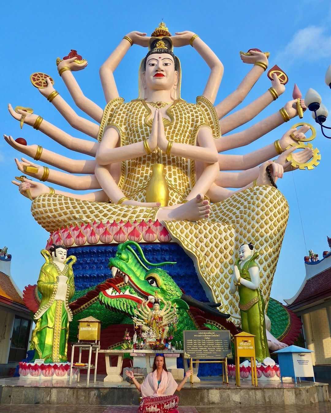 Wat Plai Laem op Koh Samui