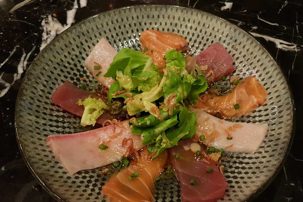 Beautifully made plate with SEEN Sashimi
