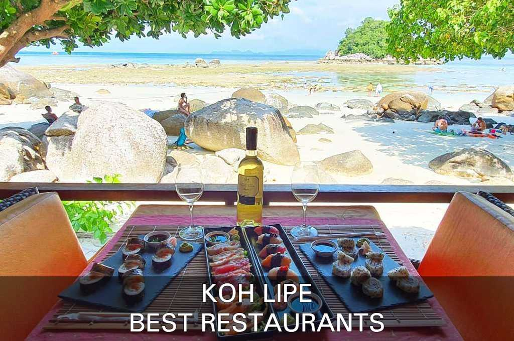 See our list with best restaurants on Koh Lipe