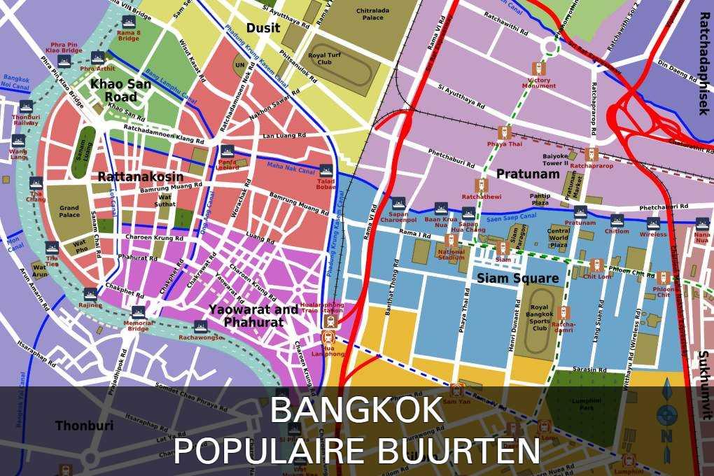 Klik hier als je meer wilt weten over de populaire buurten in Bangkok