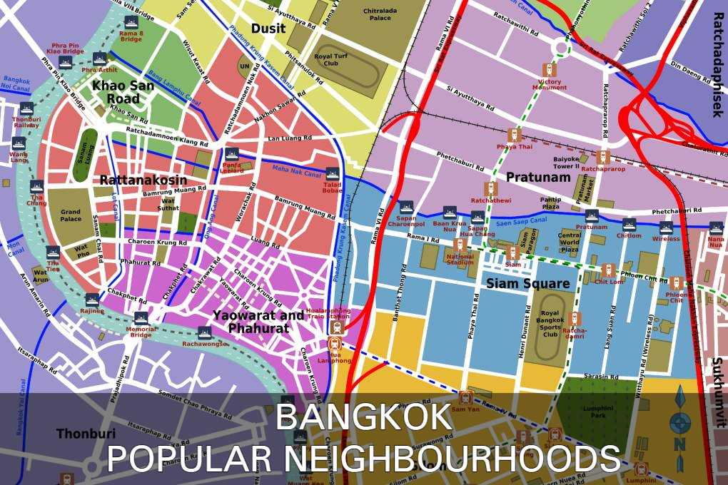 Maps With Links To Popular Neighbourhoods In Bangkok