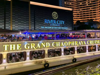 The Chao Phray River Boat Is Docked At River City