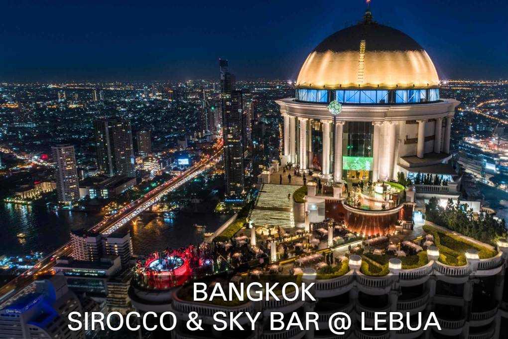 Lees hier alles over Sirocco restaurant en de Lebua Sky Bar in Bangkok, Thailand.