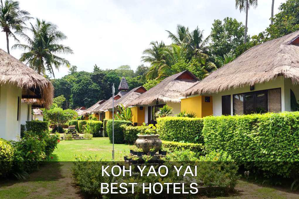 Click here to see our list with best hotels in Koh Yao Yai