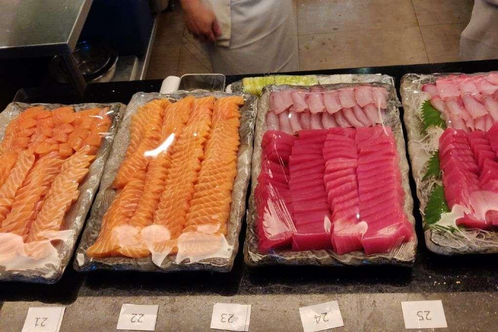 Verse sashimi bij Kisso Japanese Restaurant in in The Westin Grande Sukhumvit in Bangkok