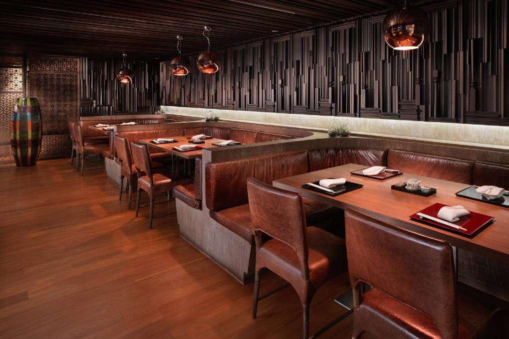 Eetgedeelte van Kisso Japanese Restaurant in The Westin Grande Sukhumvit in Bangkok