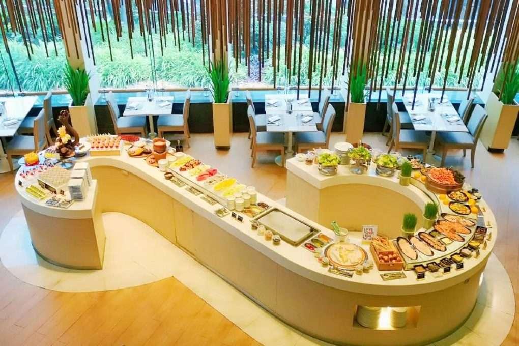 Lunch buffet bij het Seasonal Tastes restaurant in The Westin Grande Sukhumvit in Bangkok