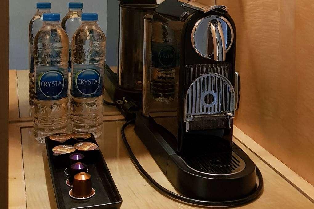 Nespresso koffiemachine in de kamers van The Westin Grande Sukhumvit in Bangkok