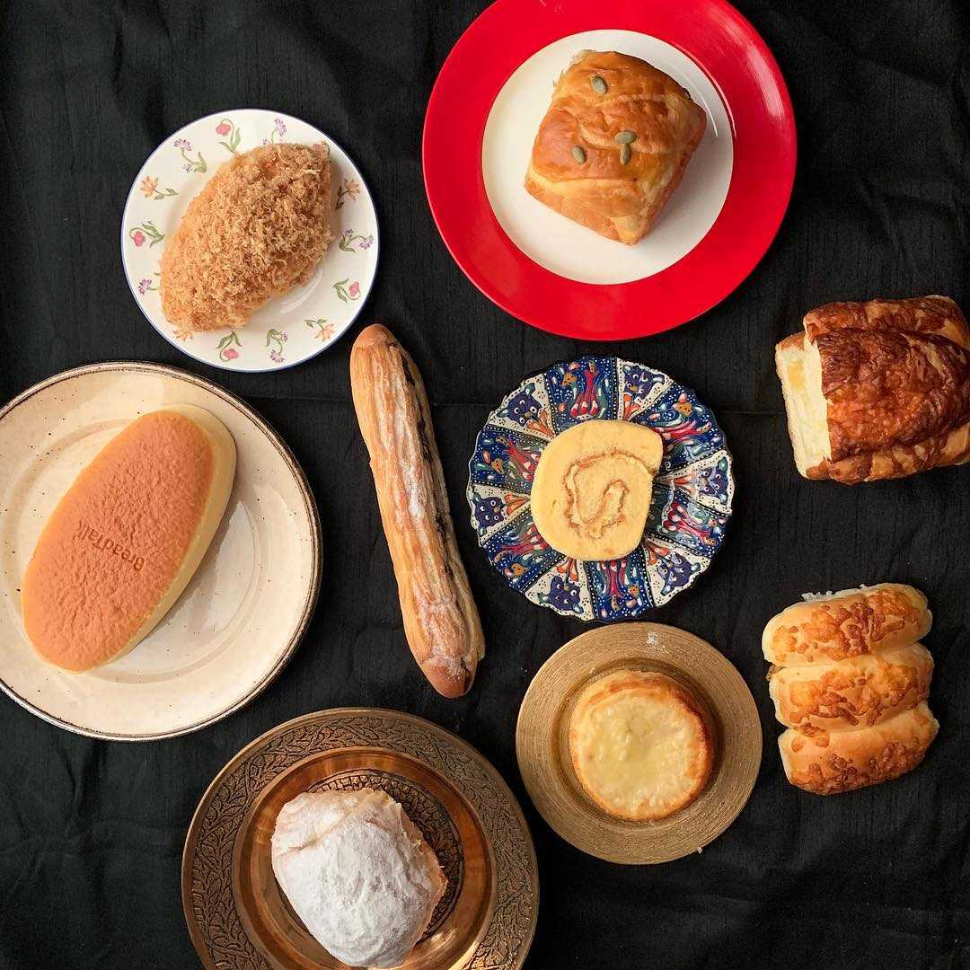 Different kinds of bread at BreadTalk in Siam Paragon, Bangkok (Thailand)