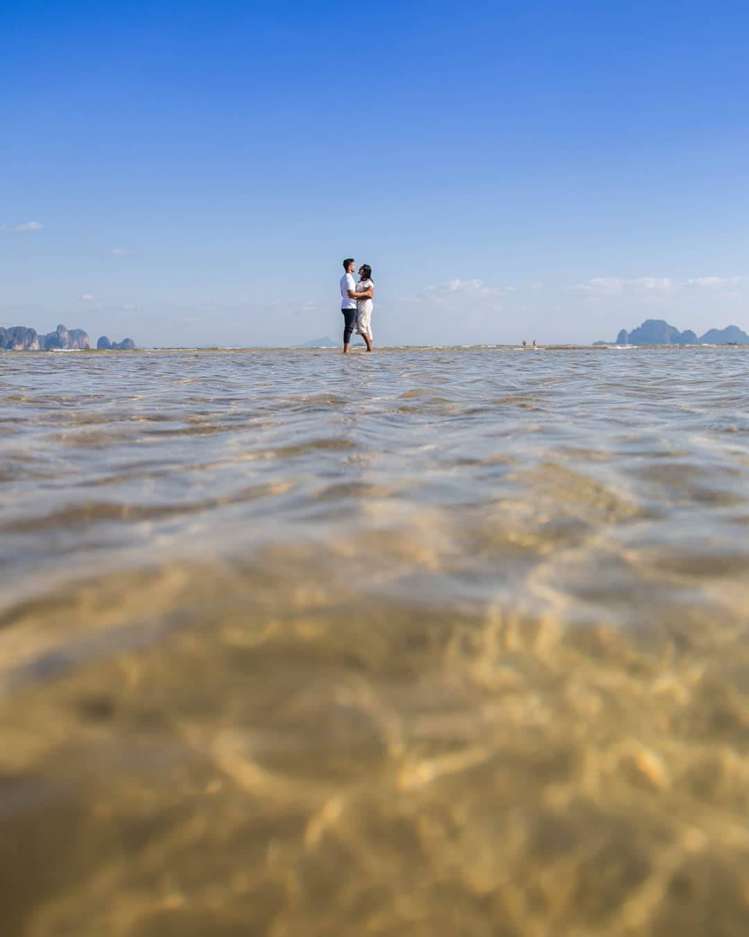 Couple in love in the Andaman Sea of Ao Nang