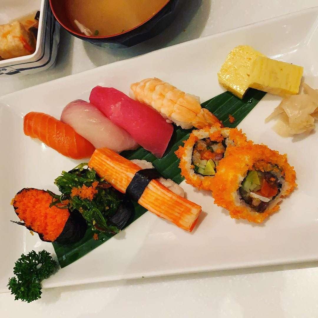 Sushi at Fuji Japanese Restaurant in Siam Paragon, Bangkok