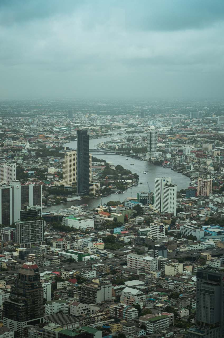 Bangkok seen from above