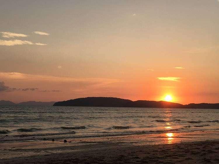 Sunset over the Andaman Sea at Ao Nang