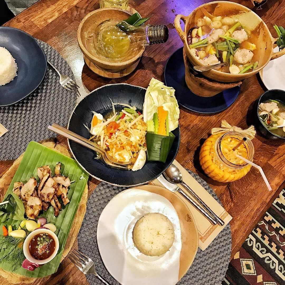 Several dishes at Chilli Thai in Siam Paragon, Bangkok