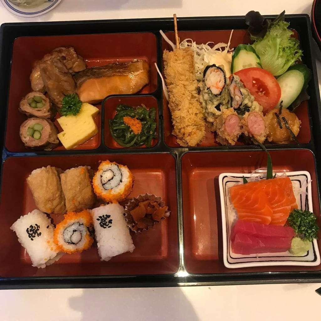 Bento Box at Fuji Japanese Restaurant in Siam Paragon, Bangkok