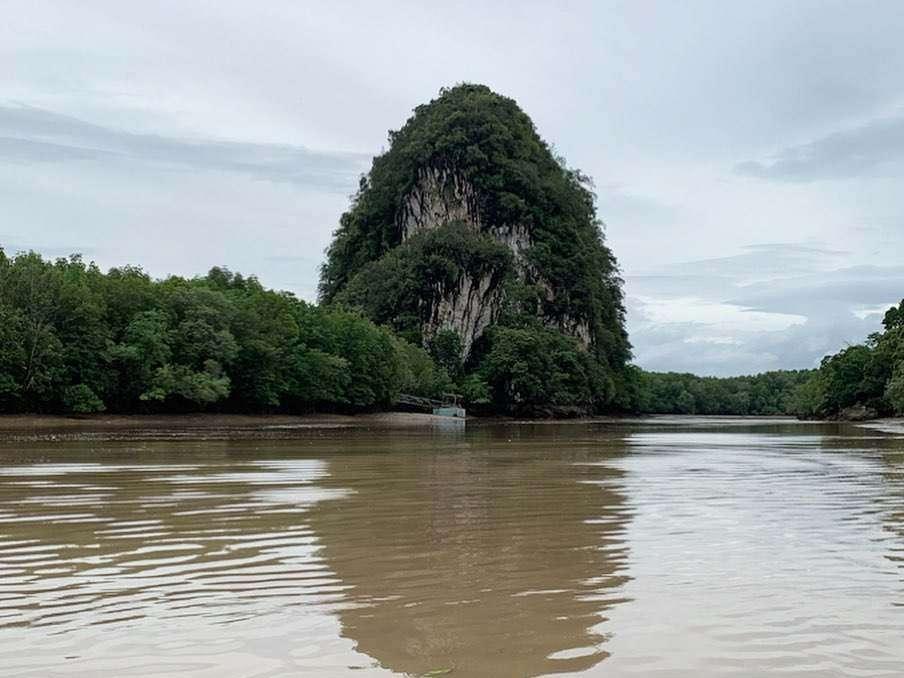 Uitzicht op Khao Khanab Nam