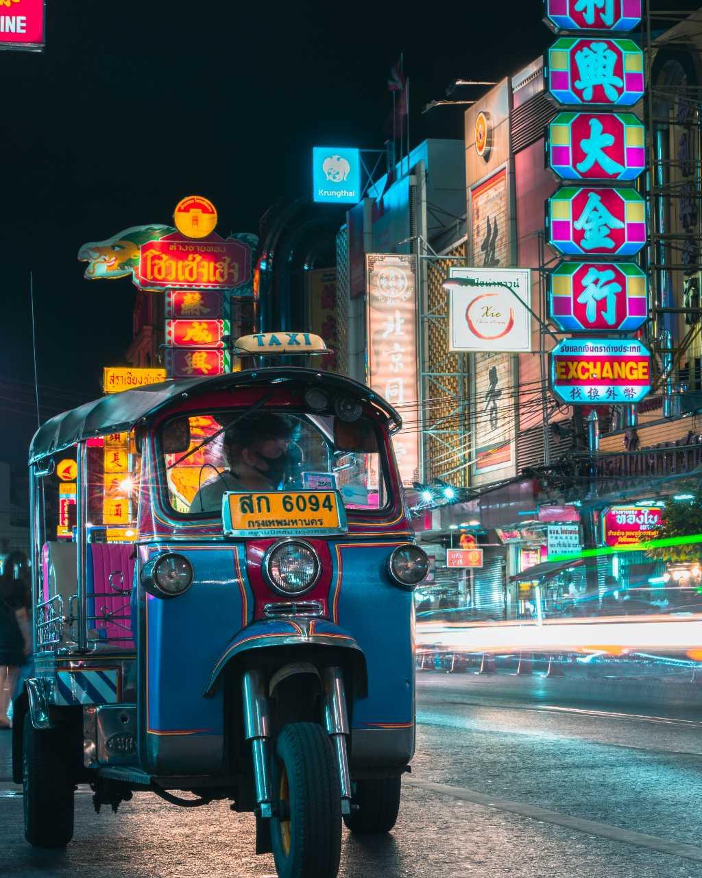 Tuk Tuk in Chinatown, Bangkok