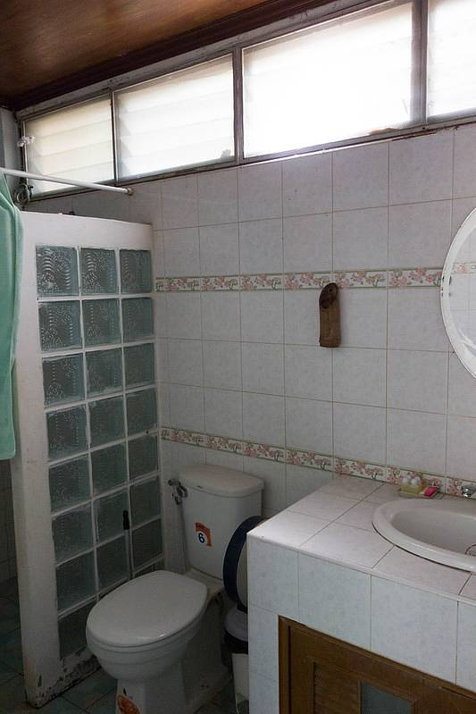 Simple bathroom with toilet and sink