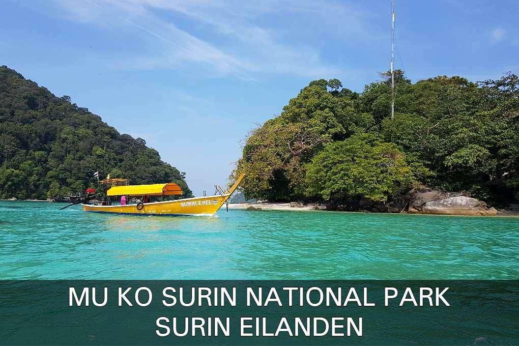 Mu Ko Surin National Park, met glashelder water en een knalgele boot