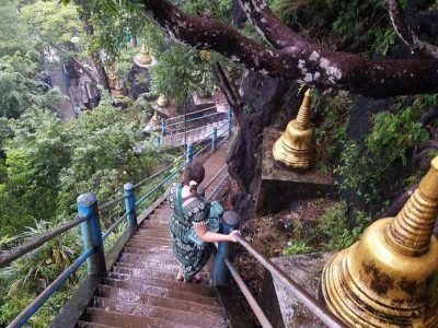 The Steep Stairs Of The Tiger Cave Temple Near Krabi Town