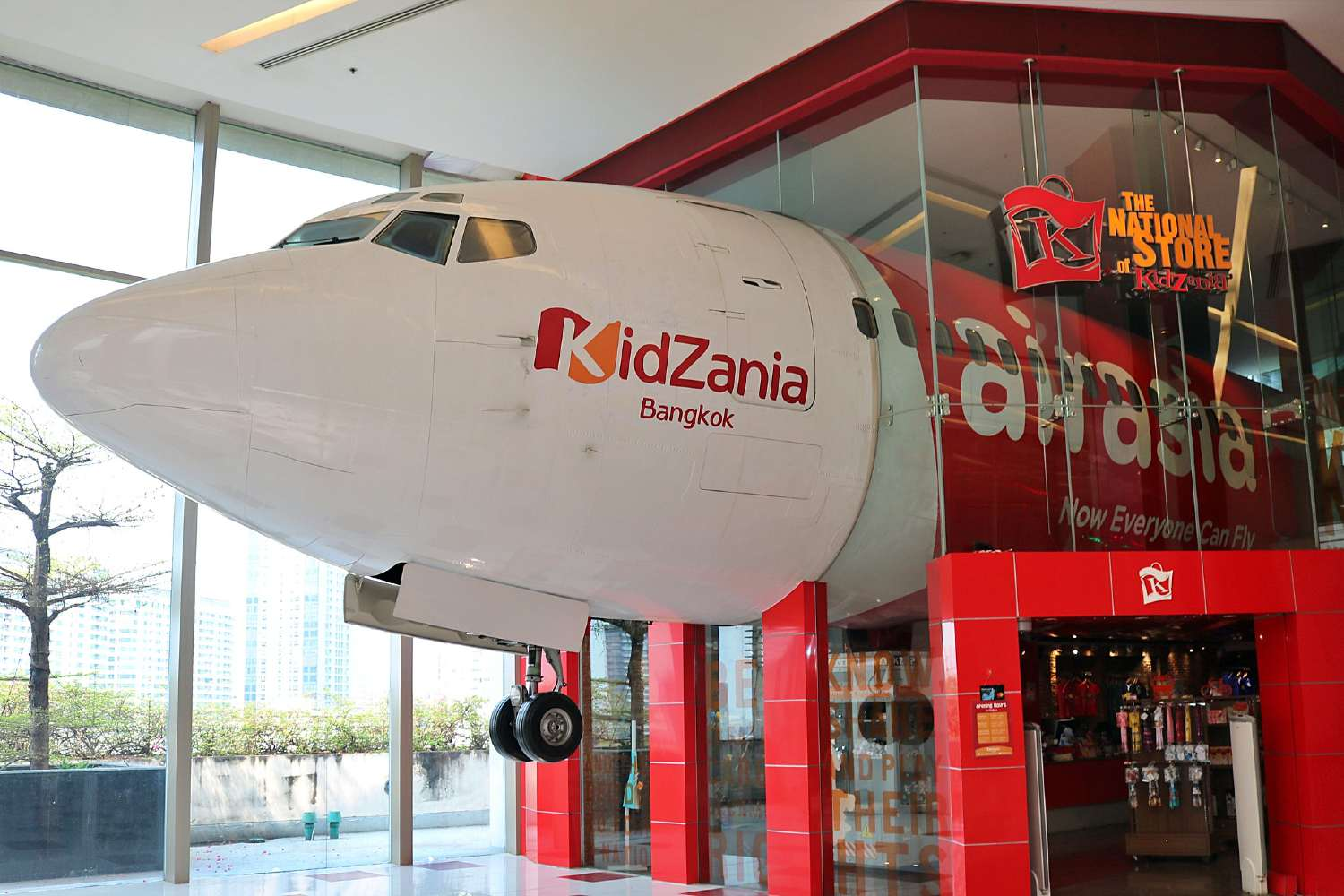 Vliegtuig in KidZania in Siam Paragon Shopping Mall (Bangkok)