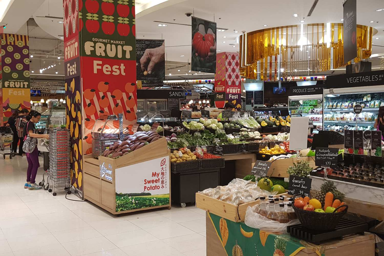 Fruit and vegetable department of the Gourmet Market (supermarket) in Siam Paragon