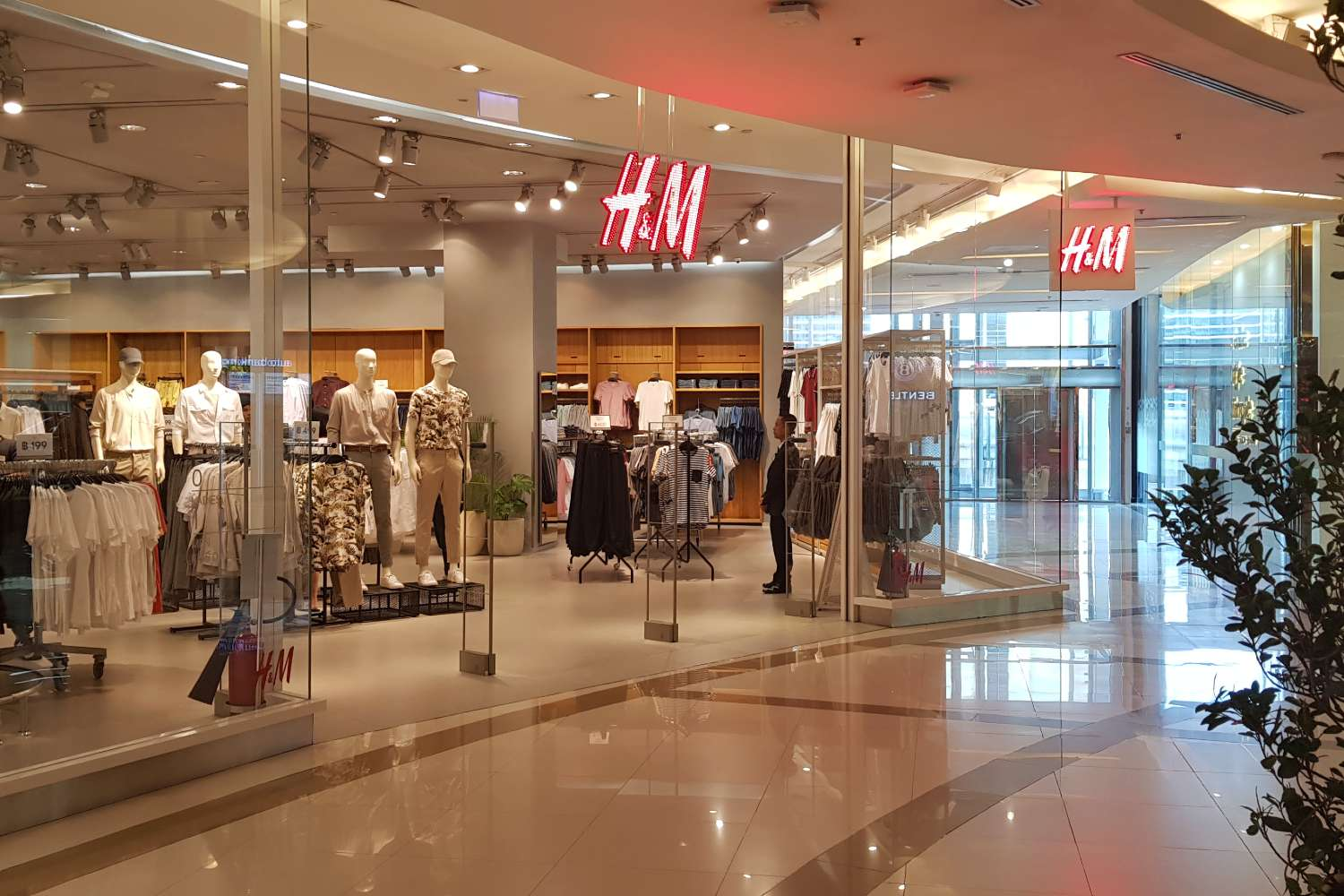 An H&M store in Siam Paragon shopping mall Bangkok